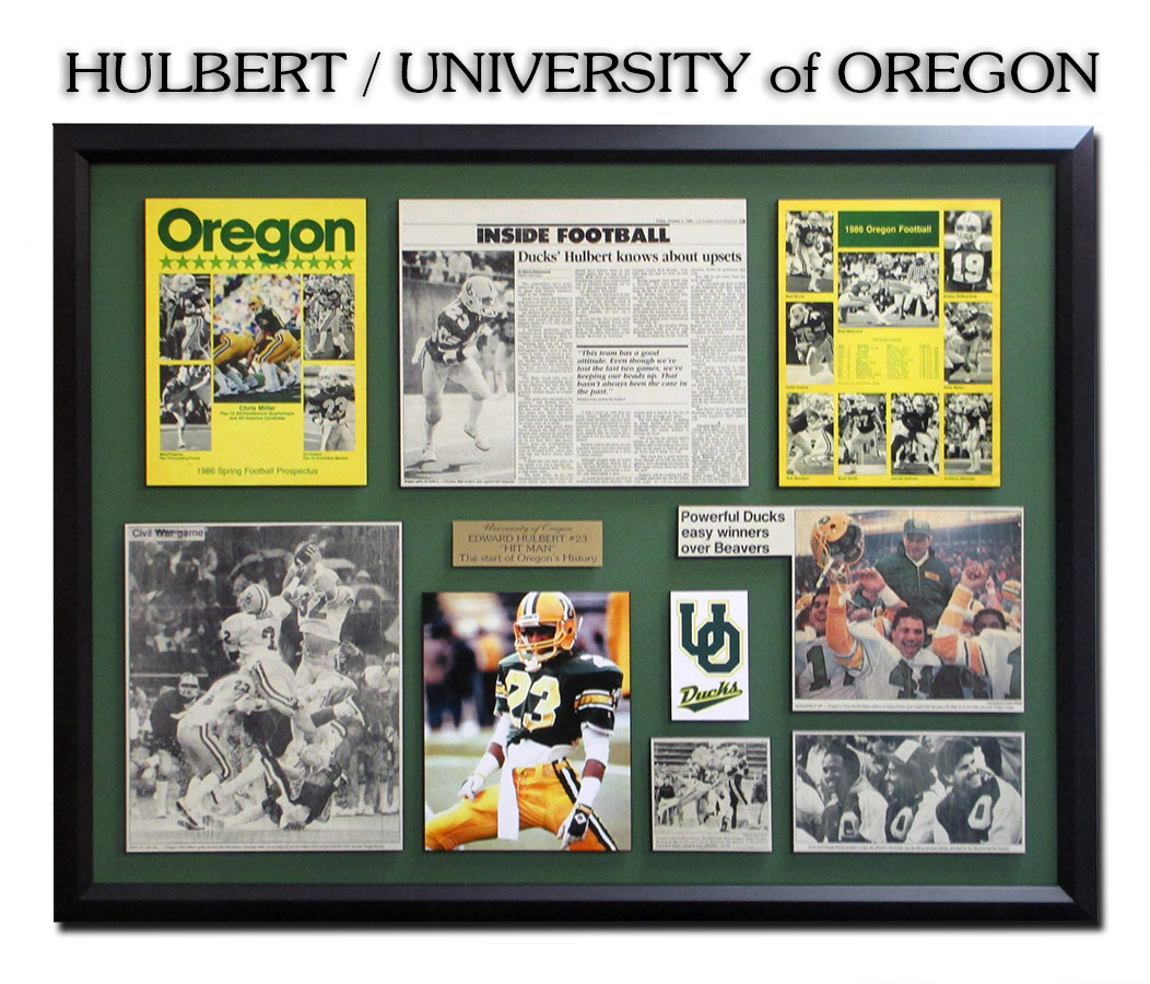 Hulbert / University of Oregon - Framing by Badge Frame 9-2016