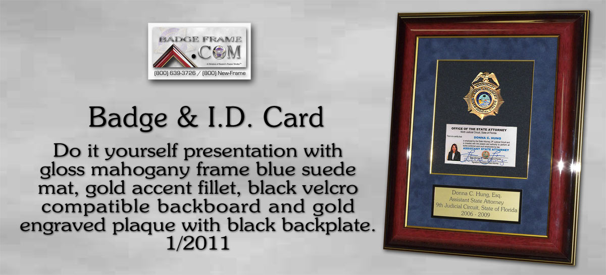 I.D. Card Frame - Do it Yourself - Donna Hung -