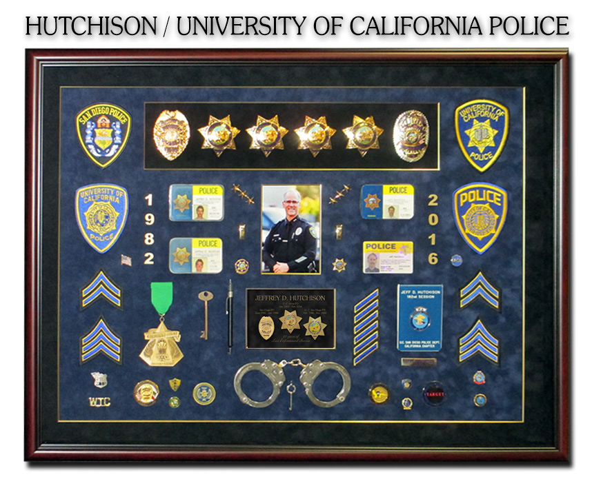 Hutchison - University of Irvine -                             Badge Frame Shadowbox