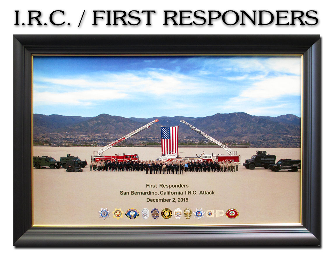 I.R.C. First Responders 2015 framed presentation form Badge Frame