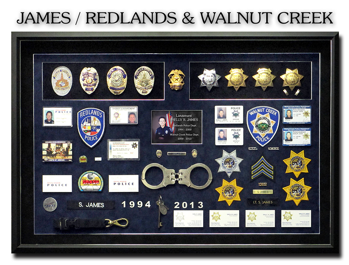 Shelly James - Redlands PD Police Shadowbox