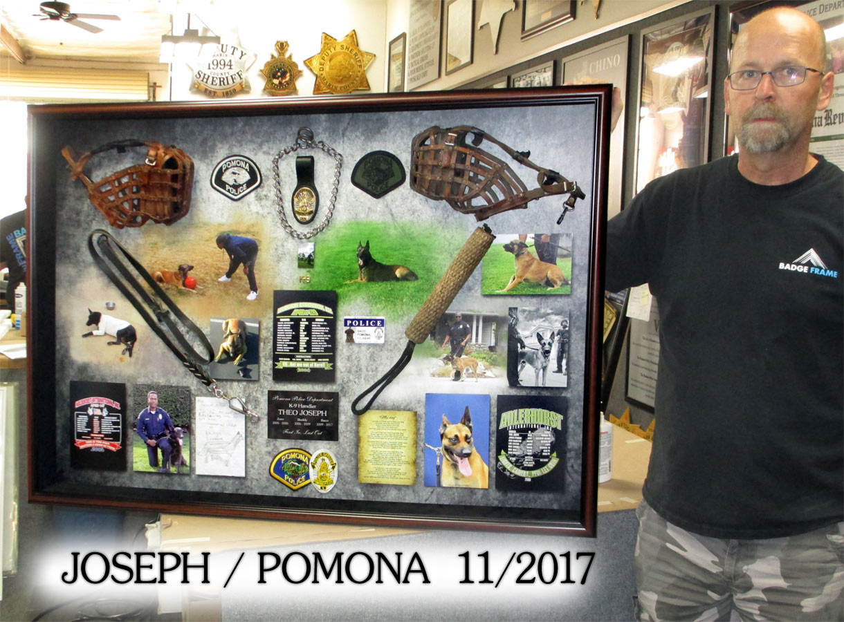 Joseph / Pomona PD K-9 presentation from Badge Frame
