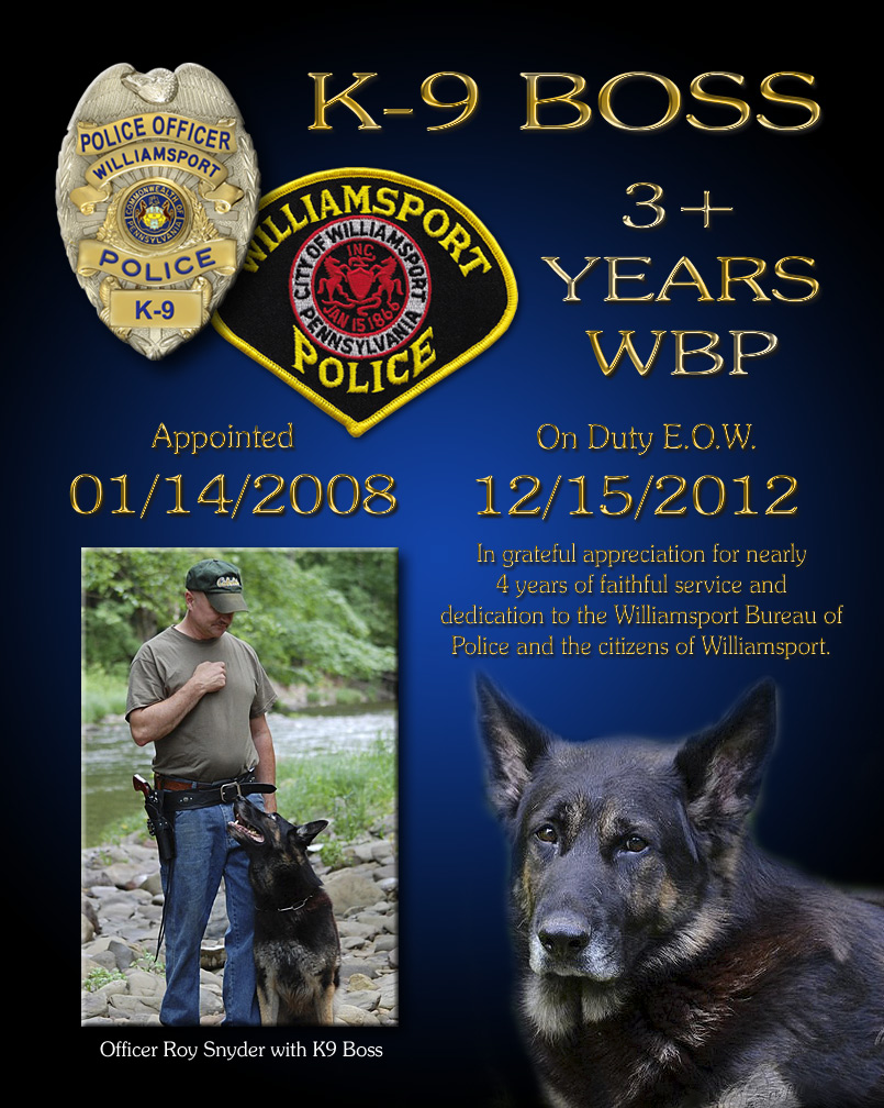 K-9 Boss - Williamsport BP