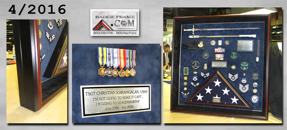 Karangalan -                             USAF Retirement Shadowbox from Badge Frame