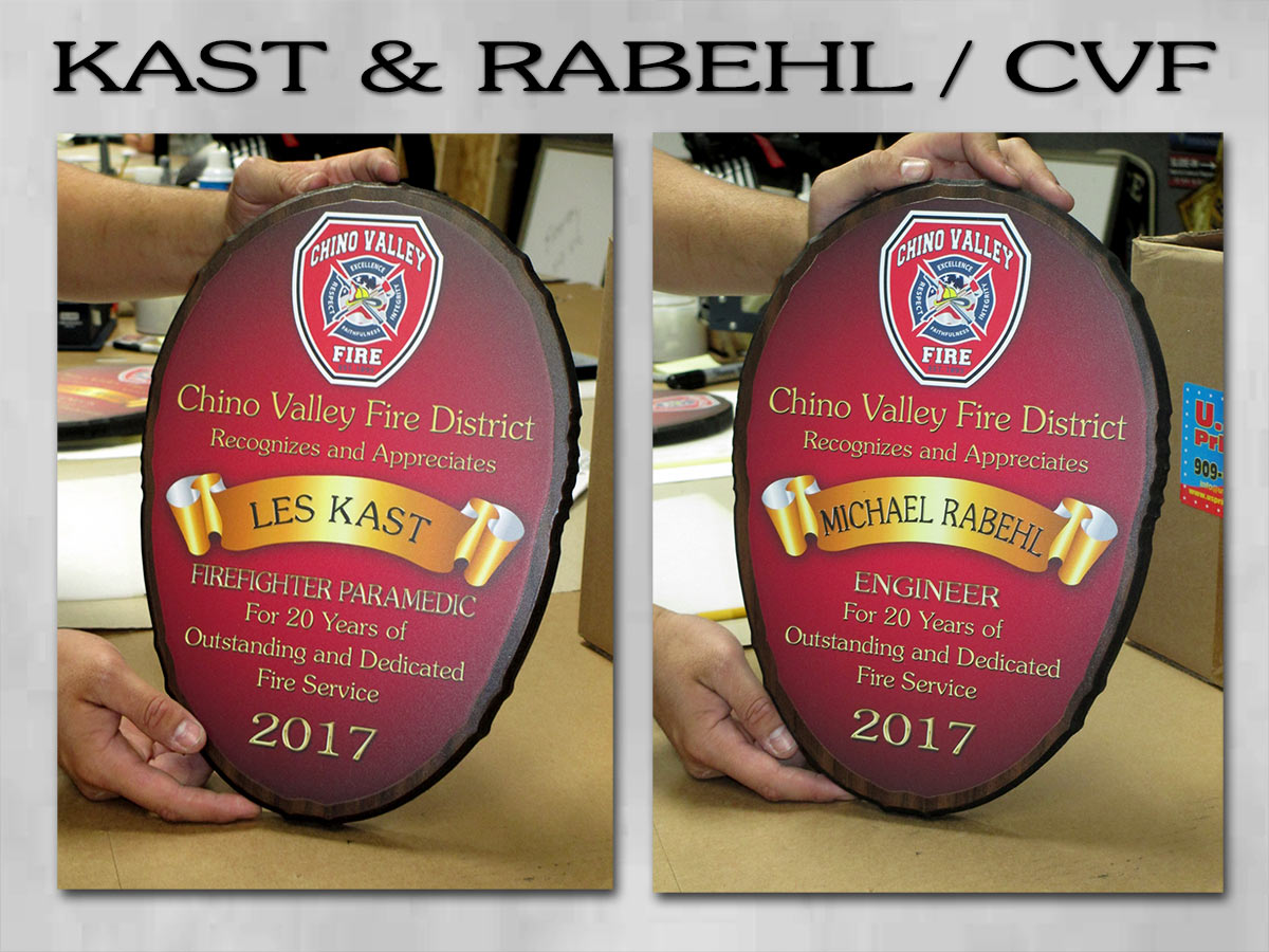 Chino Valley Fire  Presentations from Badge Frame