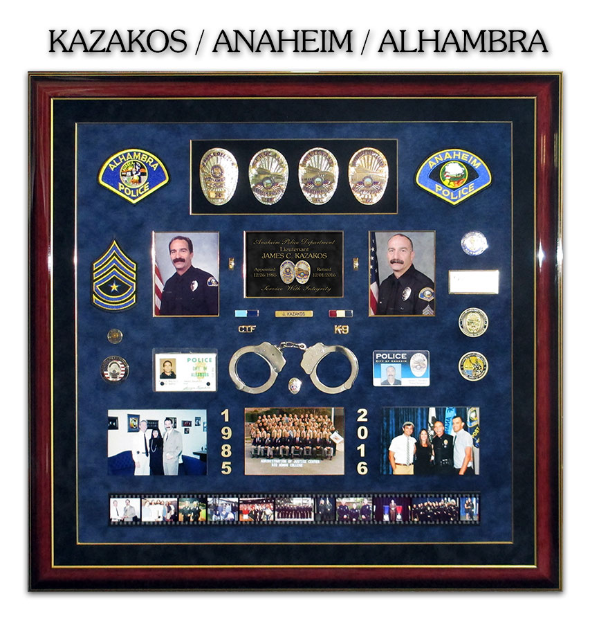 Kazakos / Anaheim and Alhambra PD -  Police Retirement Presentation from Badge Frame 11/2016
