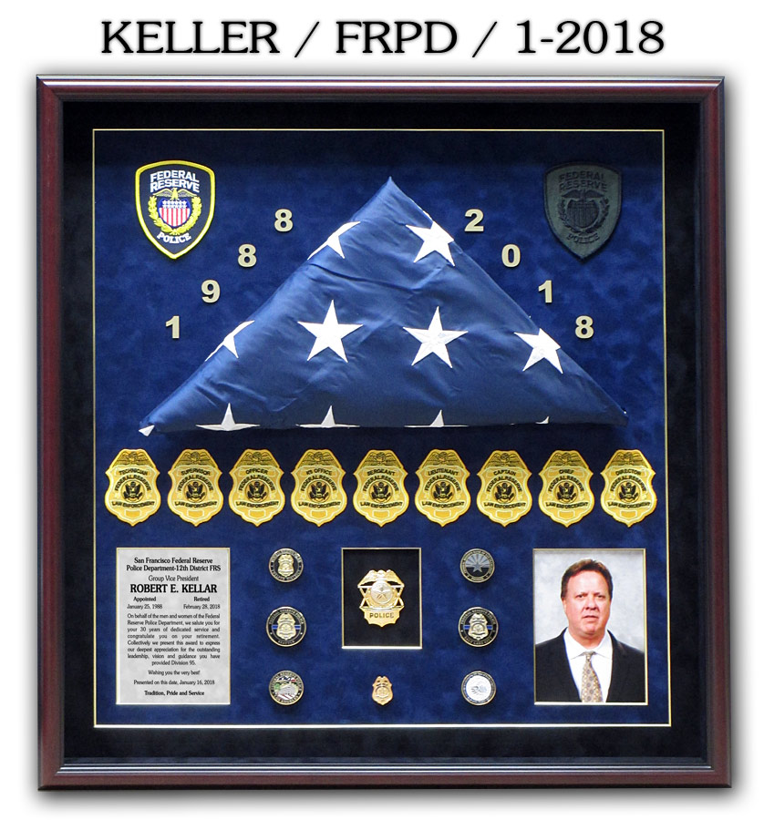 Keller - Federal Reserve PD Retirement Presentation from Badge Frame
