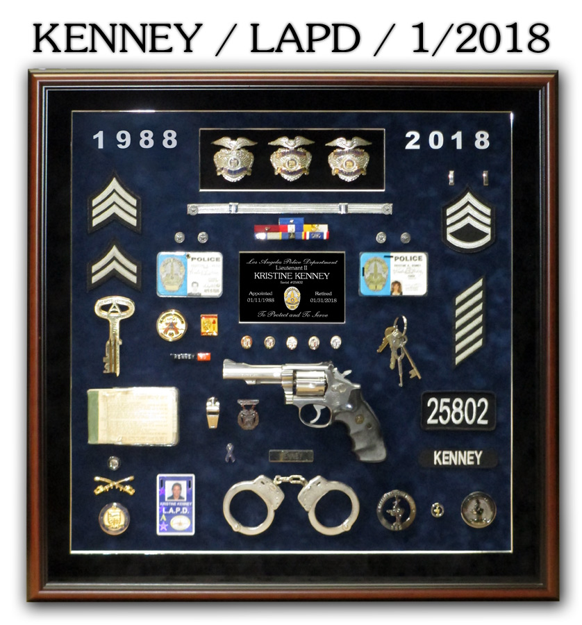 Kenney / LAPD Retirement from Badge Frame