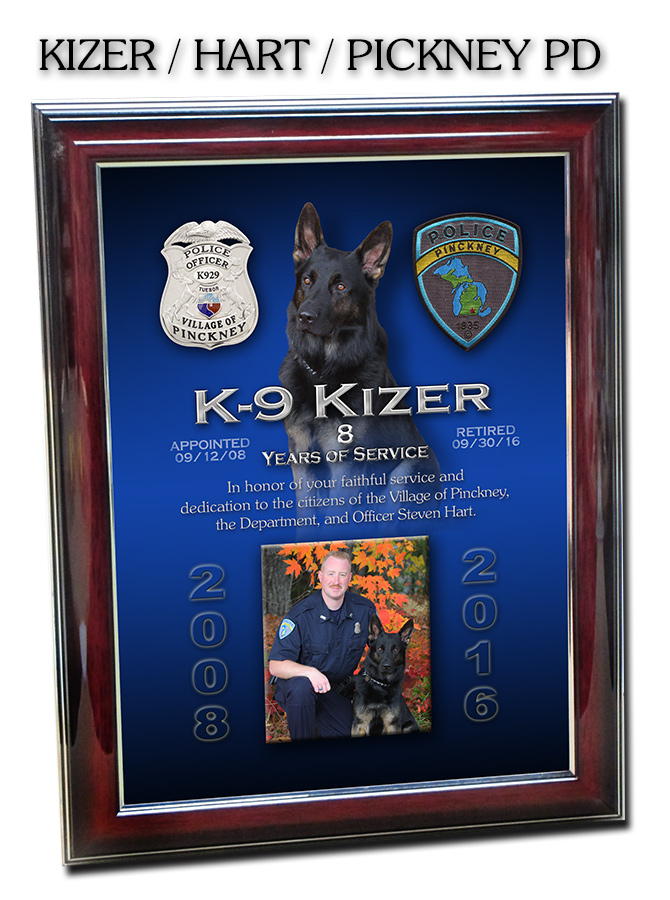 Kizer - Pickney PD K-9           Recognition
