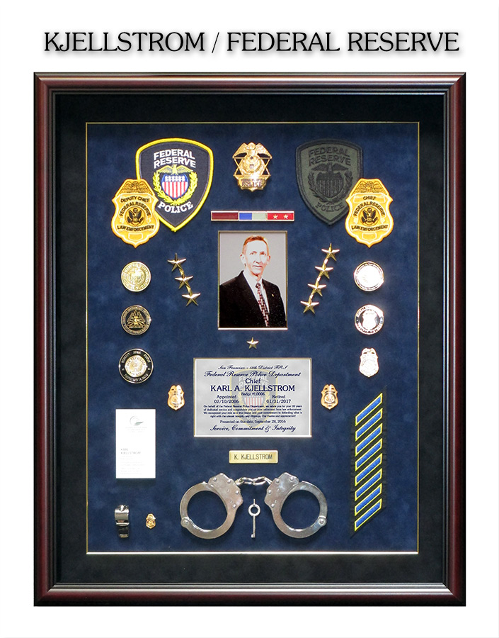 Kjellstrom - Federal Reserve PD Retirement Presentation from Badge Frame