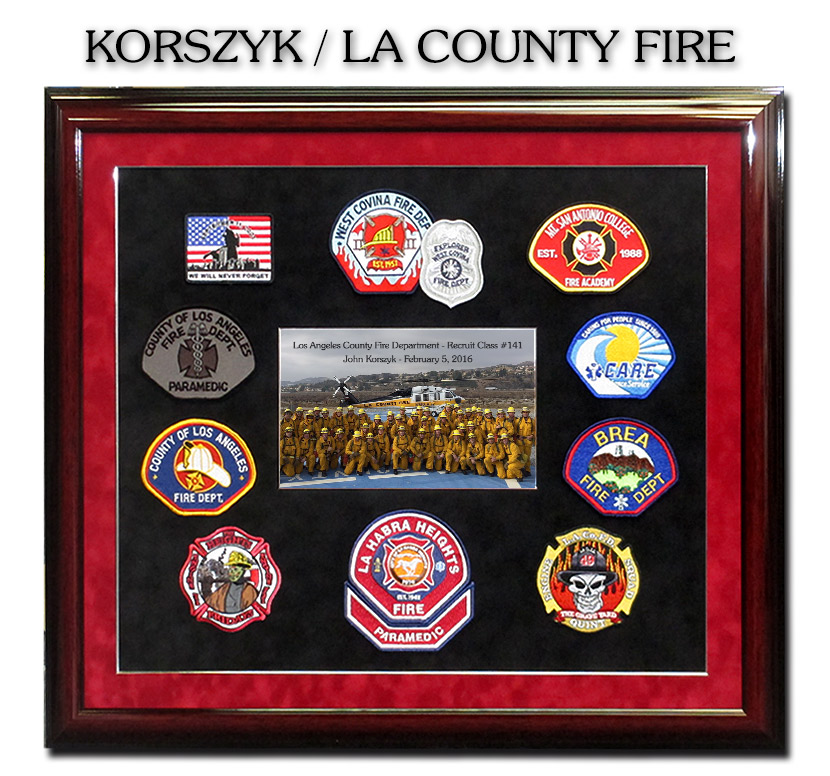 Korszyk / LA                                 County Fire Academy Class 141 / Badge                                 Frame Patch Collection