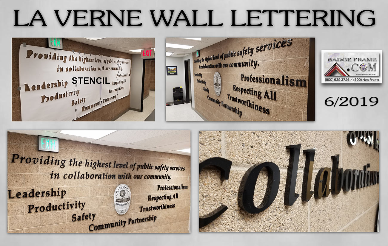 La Verne PD Wall Lettering