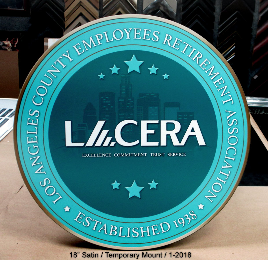 LACERA Podium Embelm from Badge Frame