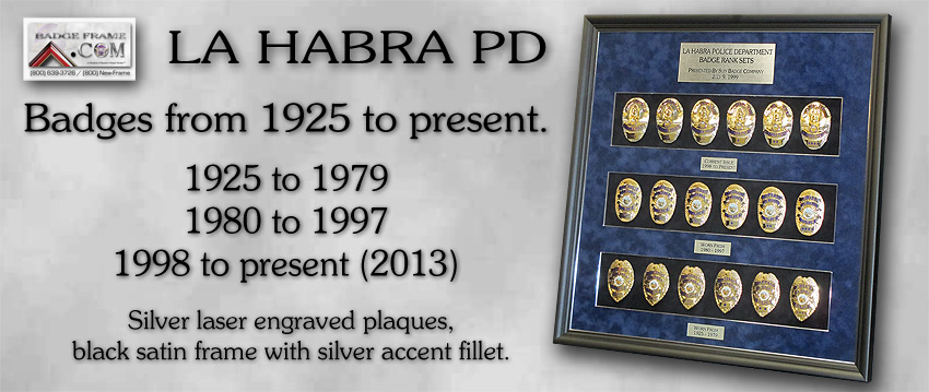 La Habra PD Badges