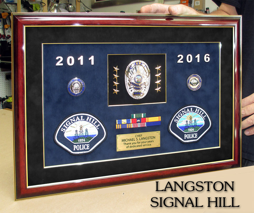 Chief Langston - Sgnal Hill PD presentation from Badge Frame