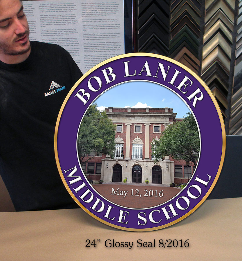 Lanier Middle School Podium Logo