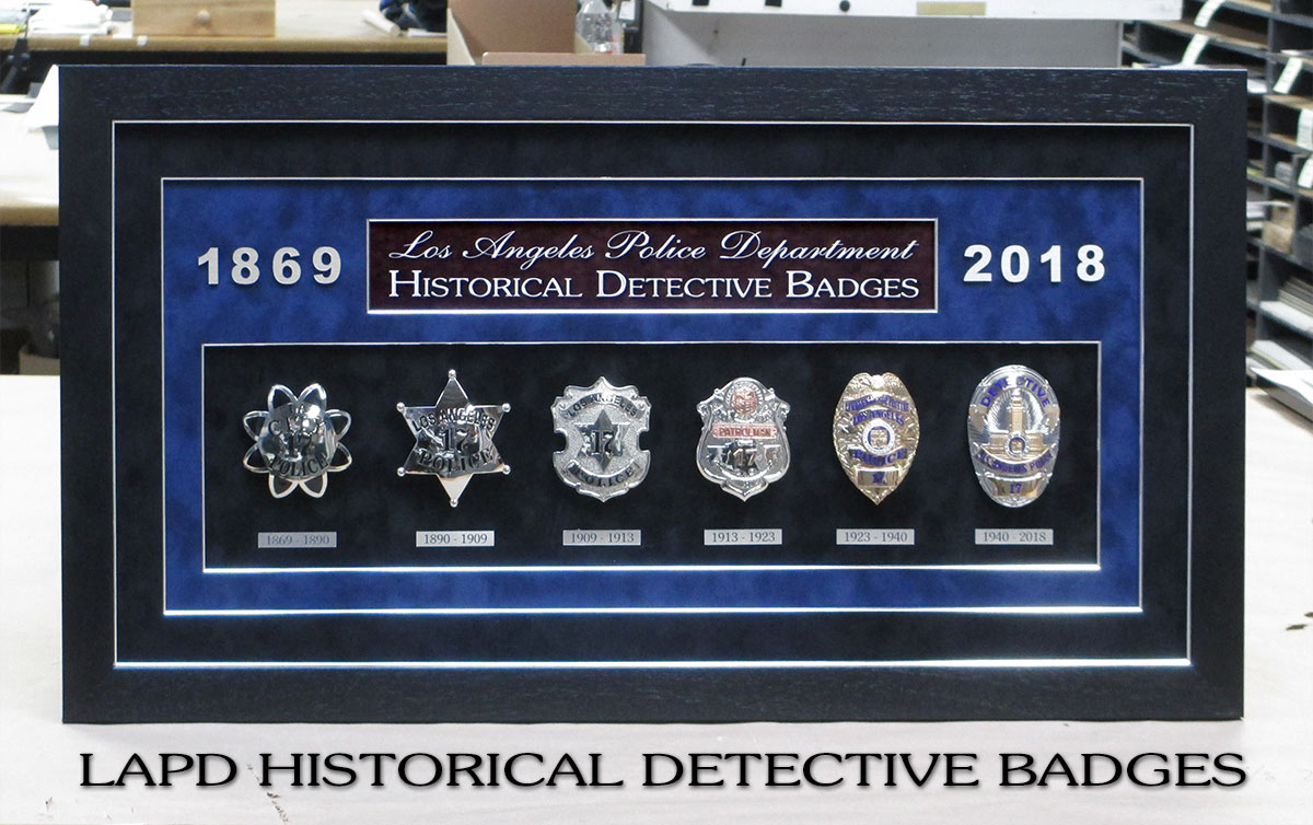 LAPD Detective Badge History from Badge Frame