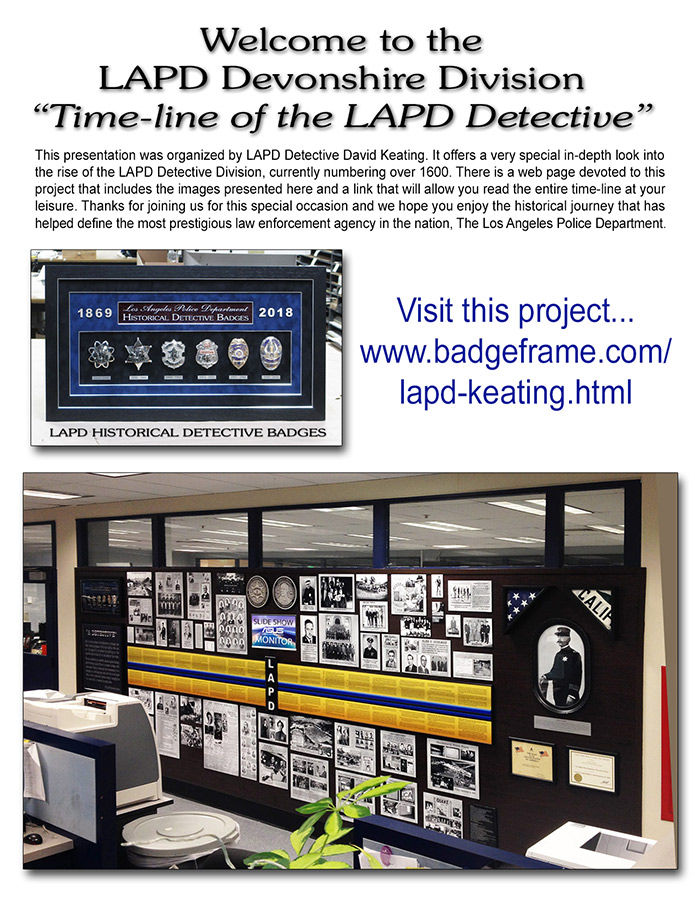 LAPD Detective Time-Line Opening Ceremony 4/20/2018