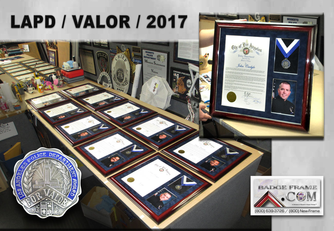 LAPD - Medal for Valor presentations from Badge Frame 2017