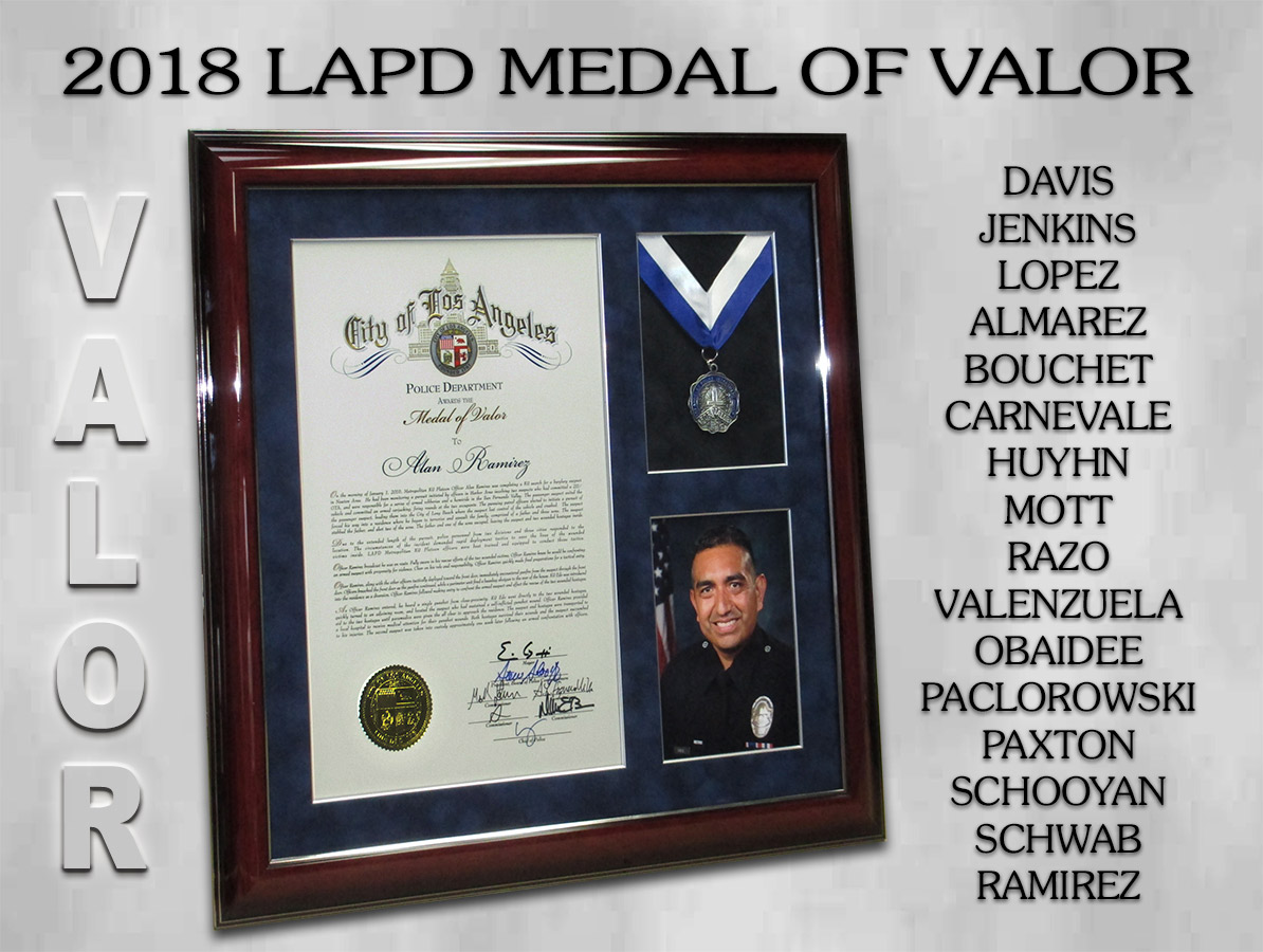 LAPD Medals of Valor 2018