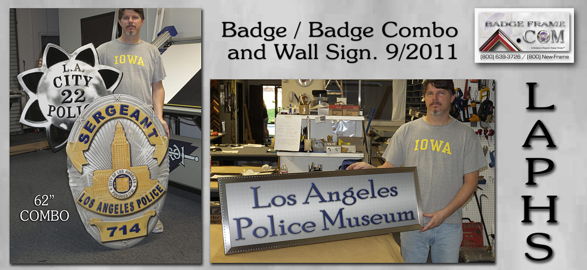 LAPHS - Badge Combo and Museum Sign