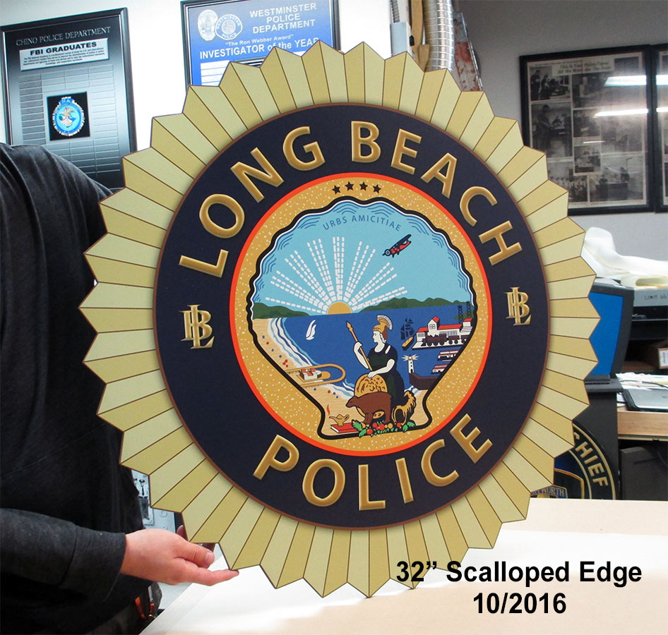 Lon Beach PD - Seal from Badge Frame