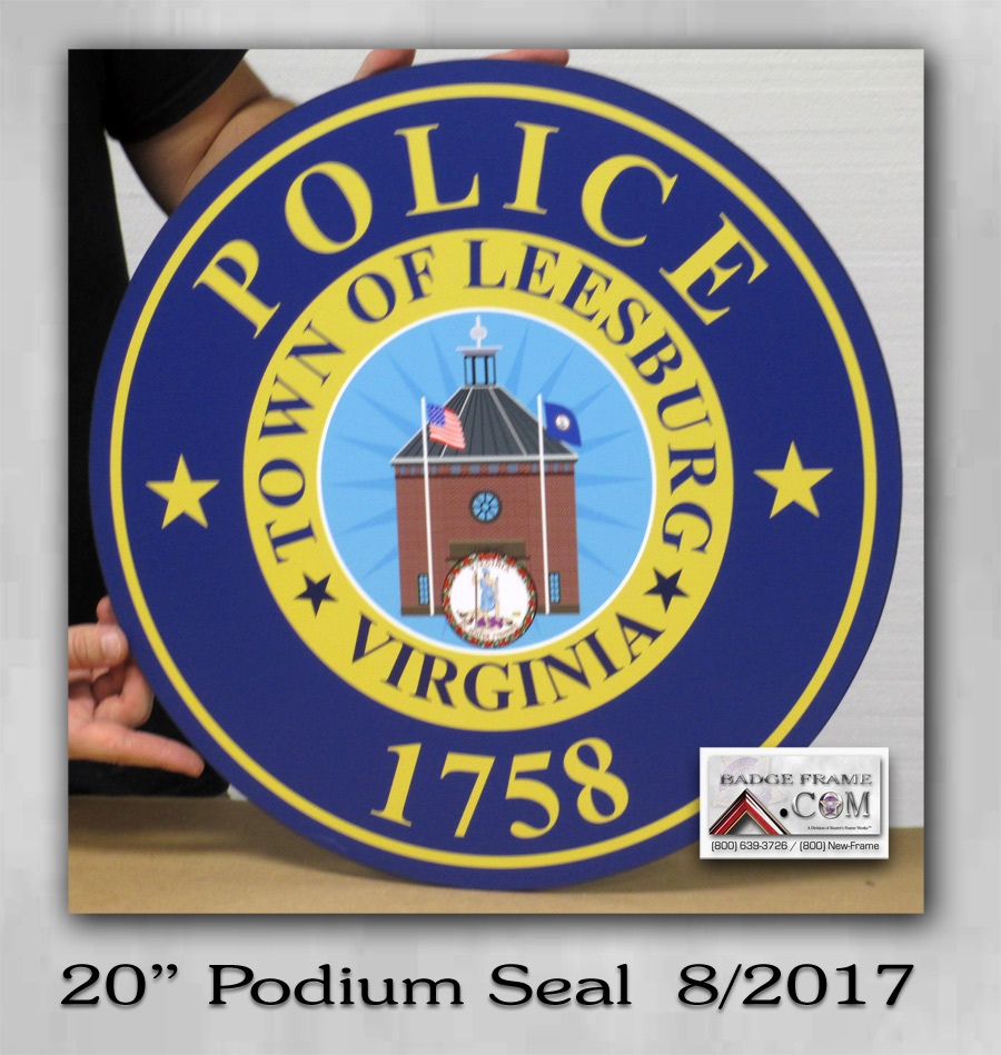 Podium Seal for Leesburg PD Podium from Badeg Frame
