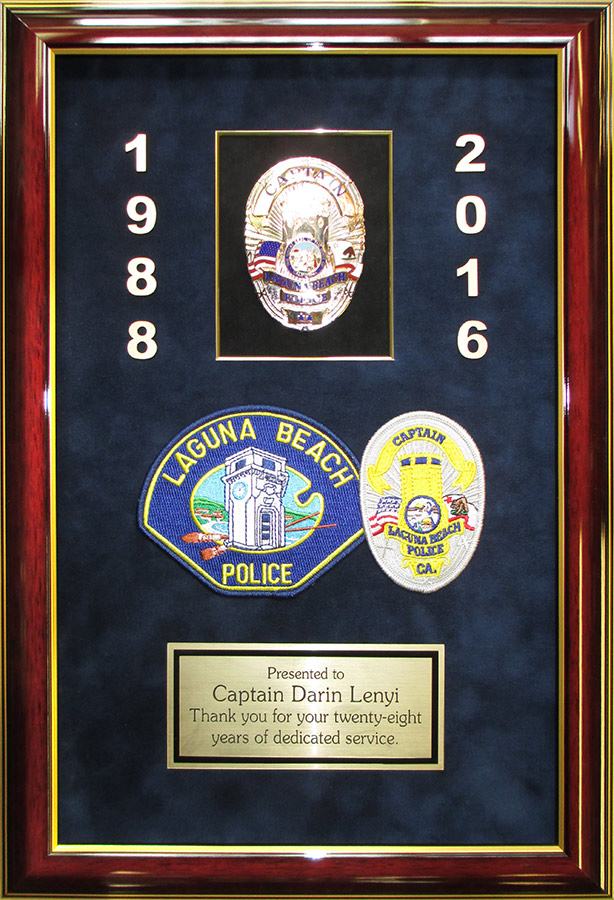 Lenyo - Police Career Presentation from Badge Frame