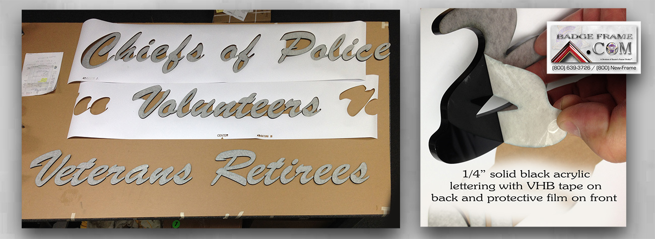 Wall lettering from Badge Frame