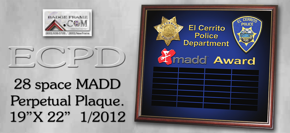 MADD - Perpetual Plaque