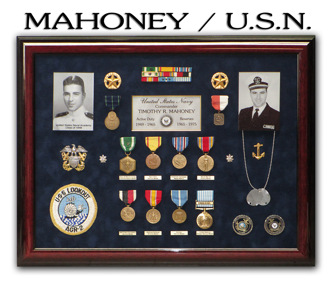 Mahoney - USN Retirement Presentation from Badge Frame