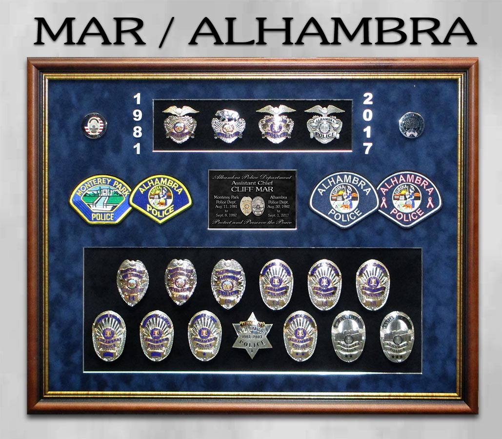 Mar / Alhambra PD retirement presentation from Badge Frame