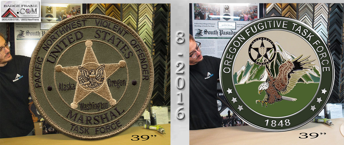 U.S. Marshal Oversize Coin and Patch from Badge Frame