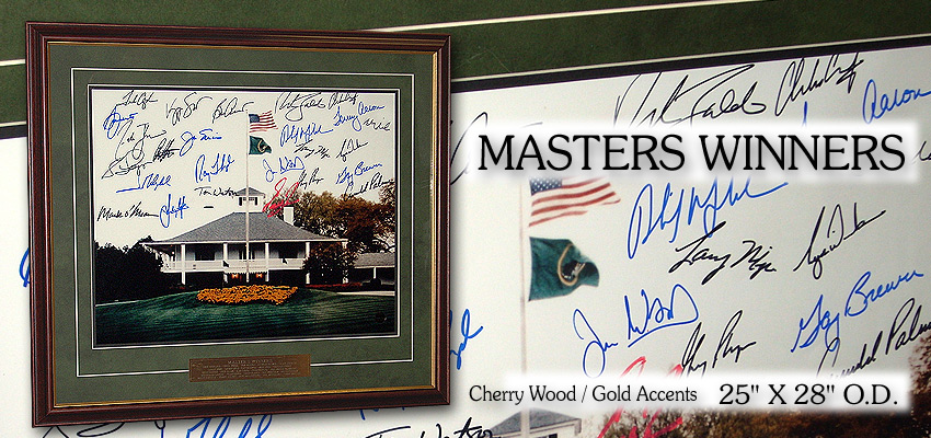 Masters Winners / Signed
