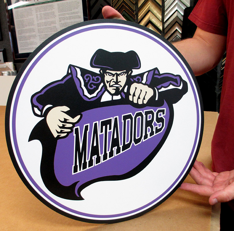 matadors                             podium, badge frame