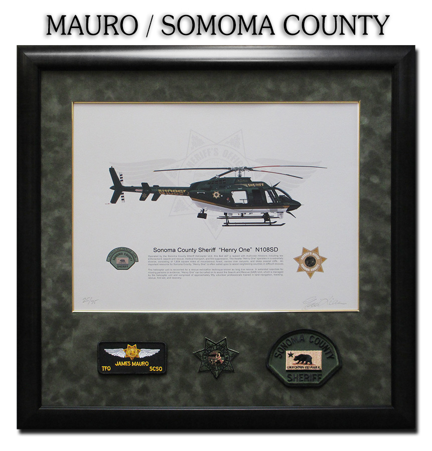Mauro - Sonoma County Sheriff framed by Badge Frame