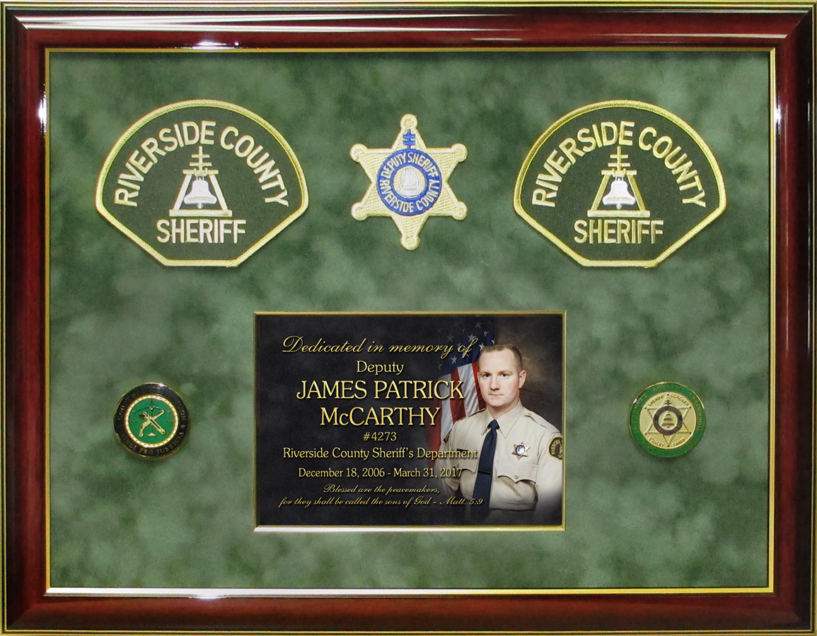 E.O.W. Riverside County Sheriff presentation from Badge           Frame