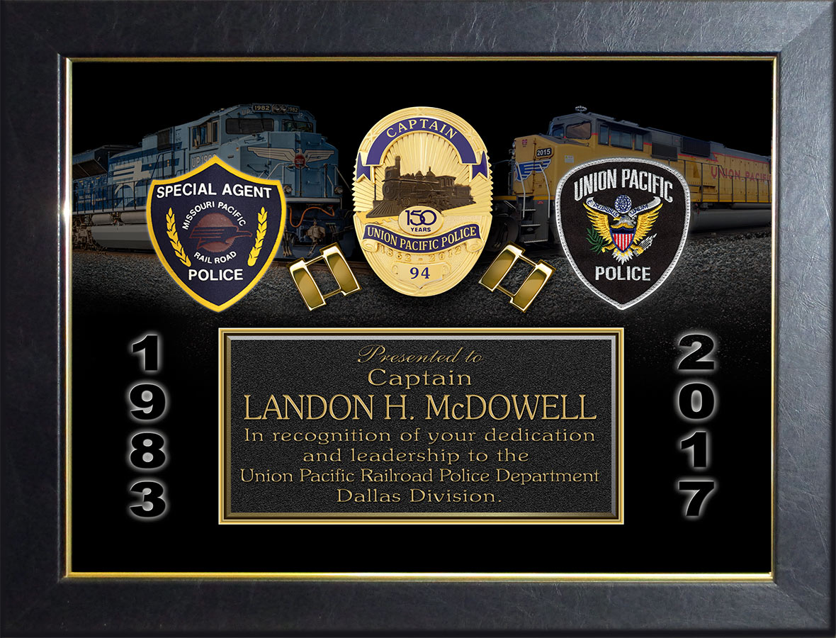 McDowell -           Union Pacific Retirement Presentation from Badge Frame