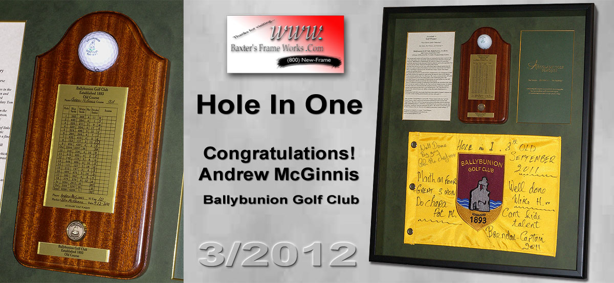 McGinnis Hole in One - Ballybunion