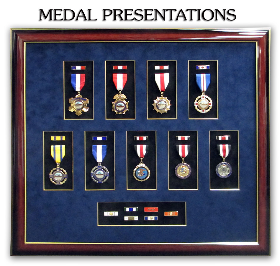 Medals & Ribbons framed by Badge Frame