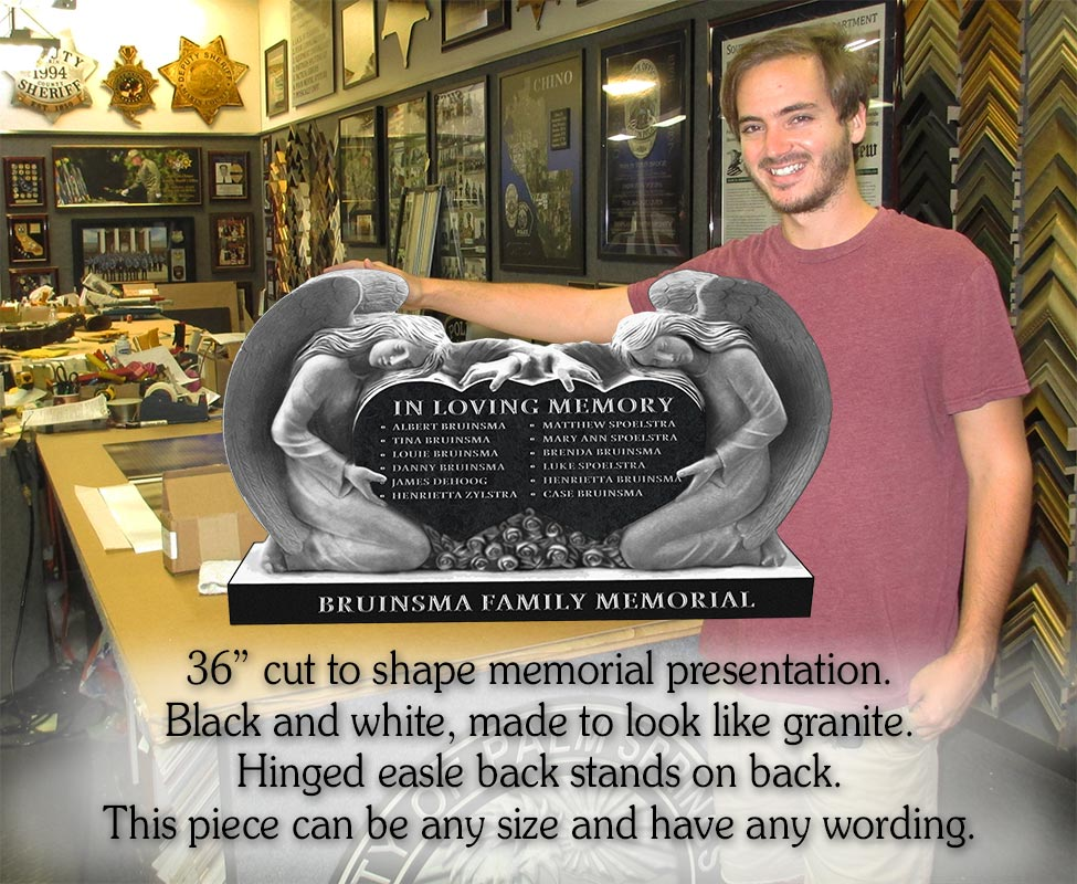 "Custom Memorial Presentation           - 36"" cut to shape"