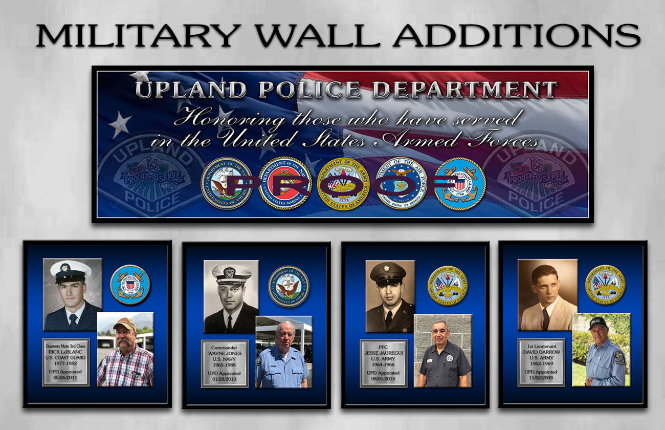 Police Department Military Service Wall