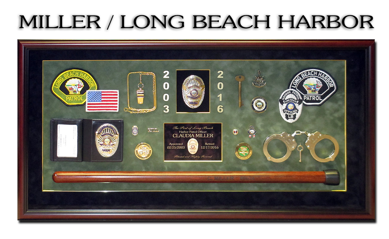 Long Beach Harbor - Miller Shadowbox from Badge Frame