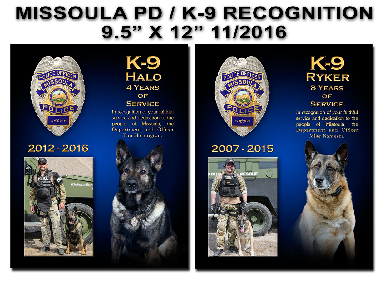 Missoula PD K-9 Presentations           from Badge Frame