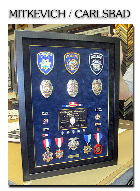 Police                                   Projects, Medal Shadowbox, Badge                                   Frame