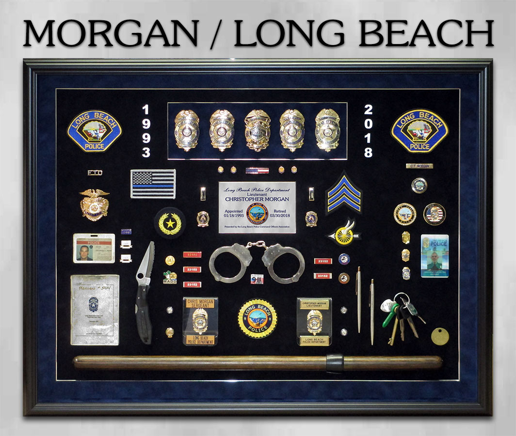 Morgan / Long Beach PD Retirement Presentation from Badge Frame