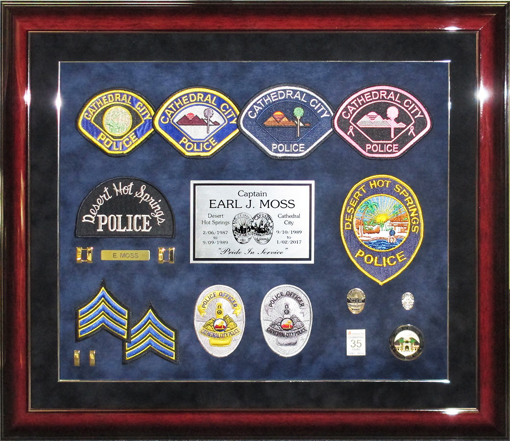 Earl Moss - Cathedral City PD Retirement from Badge Frame