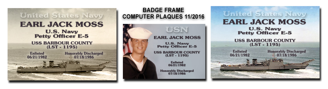 Earl Moss - Computer Plaques           from Badge Frame