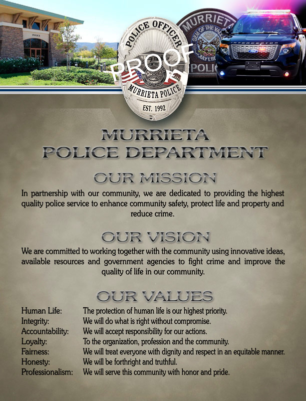 Murrieta PD                             Mission