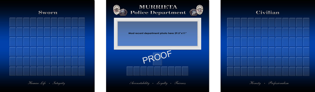 Murrieta                             PD Org Chart Proof from Badge Frame